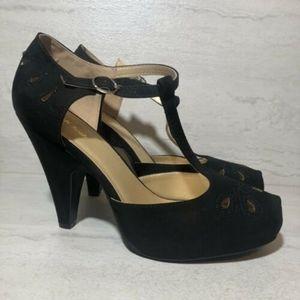 Modcloth Retro Heels Black Mcdd1-5  Size 10